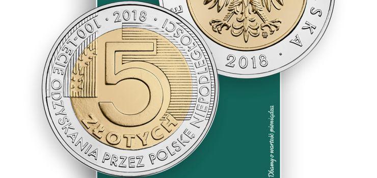 NBP rozda Polakom po 5 zł. Wyemituje ponad 38 milionów niepodległościowych monet