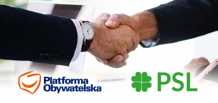Będzie koalicja PO-PSL w sejmiku na Warmii i Mazurach