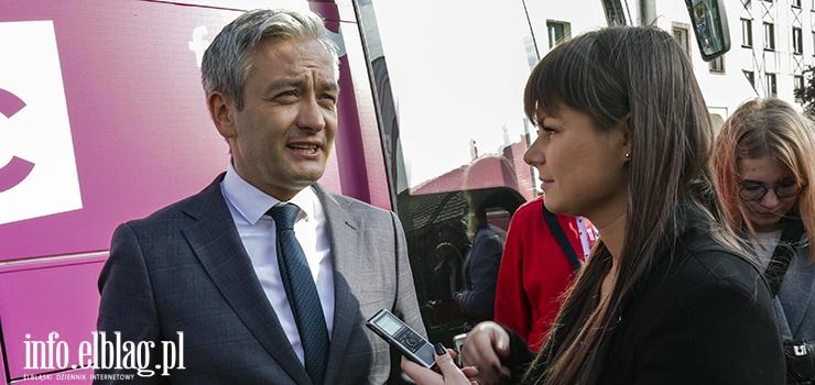Robert Biedroń: Dla Lewicy Elbląg jest ważnym miastem. To miasto, które zawsze było otwarte