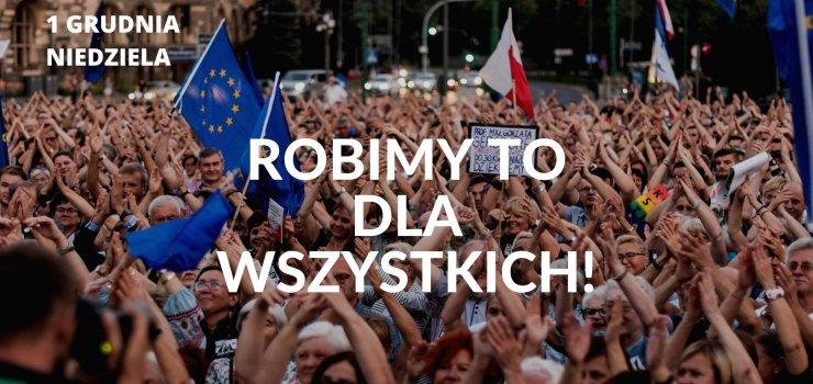 Marsz poparcia dla olsztyńskiego sędziego Pawła Juszczyszyna