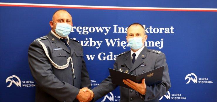 Specjalna nagroda dla funkcjonariusza aresztu śledczego w Elblągu