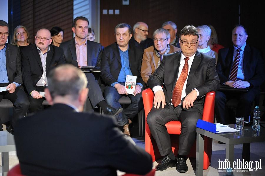 Debata kandydat�w na prezydenta Jerzego Wilka i Witolda Wr�blewskiego