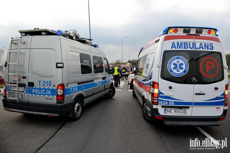 Gro�ne zderzenie na skrzy�owaniu ul. �u�awskiej z obwodnic�