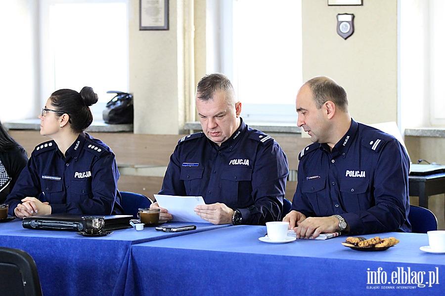 Odprawa s�u�bowa elbl�skiej policji