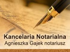 Kancelaria Notarialna Agnieszka Gajek Notariusz